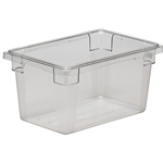"Cambro® Camwear Food Box, Clear, 12"" x 18"" x 9"" - 12189CW135"