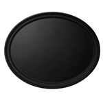 "Cambro® Camtread Oval Tray, Black, 24"" x 29"" - 2900CT110"
