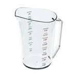 Cambro® Camwear Measuring Cup, Clear, 4 Qt - 400MCCW135