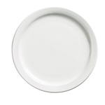 "Browne® Palm Ceramic Dinner Plate, White, 9.5"" - 563965"