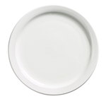 "Browne® Palm Ceramic Dinner Plate, White, 10.4"" - 563966"