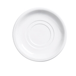 "Browne® Palm Ceramic Double Well Saucer, White, 5.5"" - 563972"