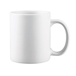 Browne® Palm Ceramic Coffee Mug, White, 11 oz - 563982