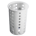 "Magnum® Plastic Cutlery Cylinder, White, 5.25"" Dia - MAG5255"