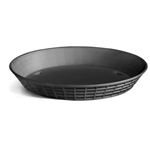 "Tablecraft® Round Plastic Platter/Basket, Black, 10.5"" - 137510BK"