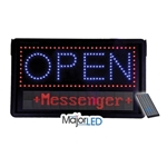 Flanagan Agencies® Open Sign w/Scrolling Message and Timer, LED - 10-MB-0001
