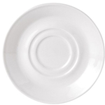 "Steelite® Simplicity Double Well Saucer, White, 5.75"" - 11010158"