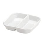 "BIA Porcelain® Divided Tidbit Dish, White, 3.25"" - 905430WH"
