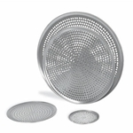 "Browne® Aluminum Perforated Pizza Tray, 12"" - 575352"