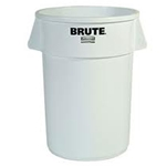 Rubbermaid® BRUTE Waste Container 32 Gal, White - FG263200WHT