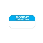 "Ecolab® SuperRemovable Day Labels, Monday, 2"" x 1"" - 10114-01-31"