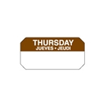 "Ecolab® SuperRemovable Day Labels, Thursday, 2"" x 1"" - 10114-04-31"