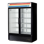 True® Glass Door Merchandiser Freezers, Black, 2 Door - GDM-49F-HC-LD-BLK