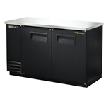 True® Back Bar Cooler, Black, 2 Door - TBB-2