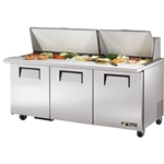 "True® Refrigerated Mega Top Prep Table w/ Night Cover, 72"" - TSSU-72-30MBSTHC(PP)"