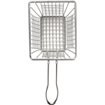 "American Metalcraft® Stainless Steel Mini Fry Basket, Rectangle, 4"" x 3"" x 3"" - FRYT433"
