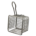 "American Metalcraft® Stainless Steel Mini Fry Basket, Square, 4"" x 4"" x 3"" - FRYS443"