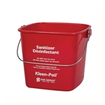 San Jamar® Kleen-Pail® Sanitizer Bucket, Red, 6 Qt - KP196RD