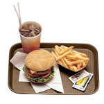 "Cambro® Fast Food Tray, Brown, 12"" x 16"" - 1216FF167"