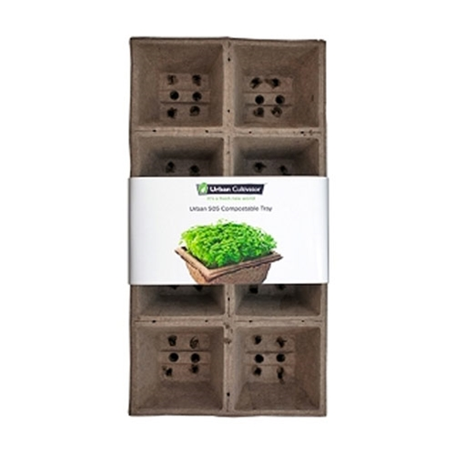 "Urban Cultivator® 505 Compostable Tray for UC-C, 5""x5"", 12Pk - UC-505-4"