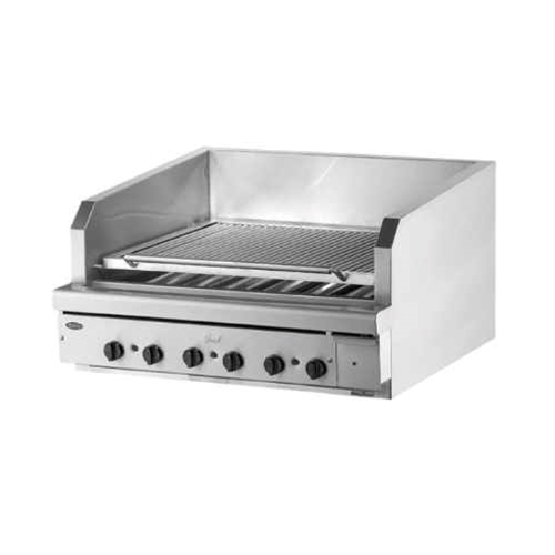 "Quest® Stainless Steel Charbroiler, 24"" - 105-BROQB24(NG)"