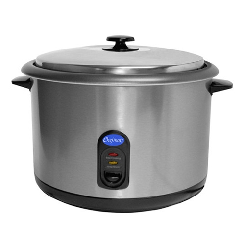 Chefmate® by Globe Rice Cooker/Warmer, 25 Cup - RC1