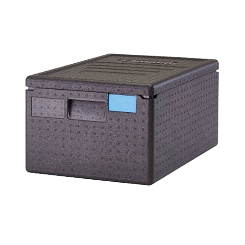 "Cambro® Cam GoBox™ Insulated Top-loading Food Pan Carrier, 180 Series, Black, 15.7"" x 12.4"" x 23.6""  - EPP180SW110"