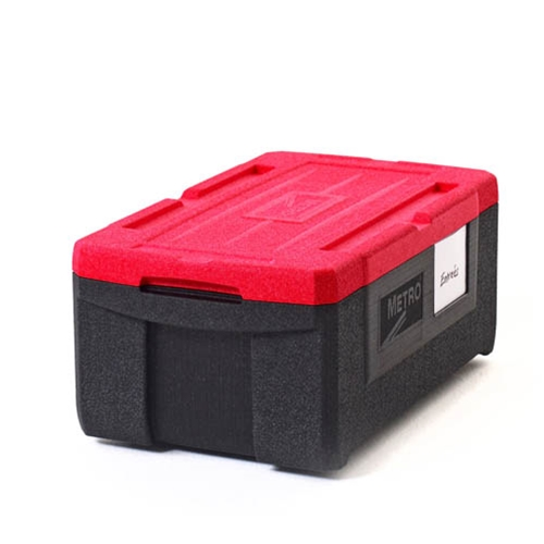"Metro® Mightylite™ Insulated Top-loading Food Pan Carrier, Red/Black, 21.0"" x 8.1"" x 12.9"" - ML180"