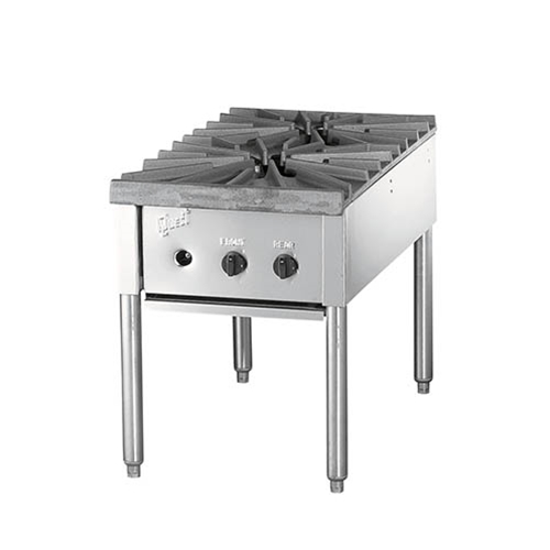 "Quest® Heavy Duty Gas Stock Pot Range w/ 2 Burners, Natural Gas,  18"" - 109-QGHP2EC(NG)"