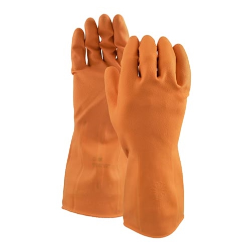 Watson Gloves® Marigold™ 30Mil Latex Gloves, Orange, Extra Large - 450B-XL