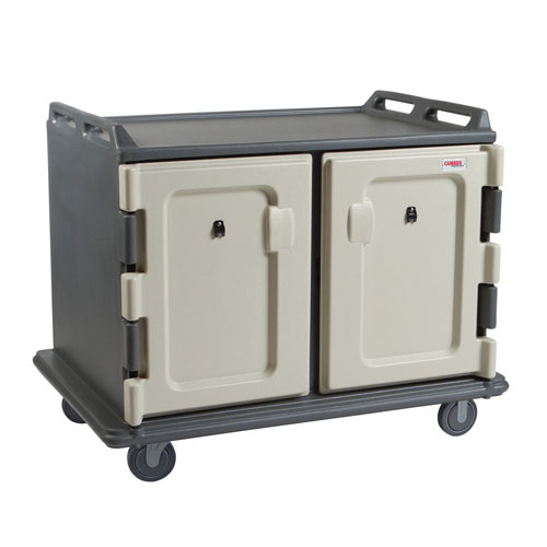 "Cambro® Low Profile Meal Delivery Cart, 2 Dorrs, Granite Grey, 55-1/8""L x 38""W x 44-1/4""H - MDC1520S20191"
