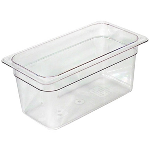 "Cambro® Camwear Pan, Clear, 1/3 Size 6"" Deep - 36CW135Camwear® Food Pan 1/3 x 6"", Clear"