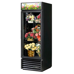 True® Glass Door Floral Case 1 Door 23 CU FT, Black - GDM-23FC-HC-LD