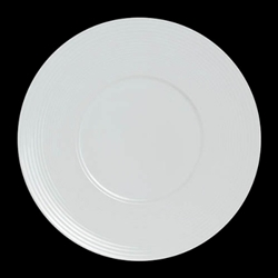 "Steelite® Virtuoso Wide Rim Plate, White, 11.75"" - 6305P699"