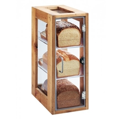 "Cal-Mil® Madera 3 Bin Vertical Bread Display, 20.5"" - 1204-99"