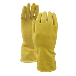 Watson Gloves® 360° Total Coverage™ 16Mil Latex Gloves, Yellow, Small - 3333-S